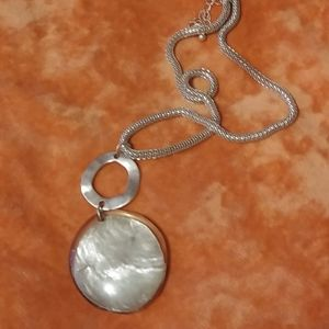 Silver Chunky Seashell Braided Chain Necklace
